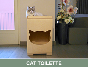 cat toilet per nascondere la lettiera Cat Wood Design